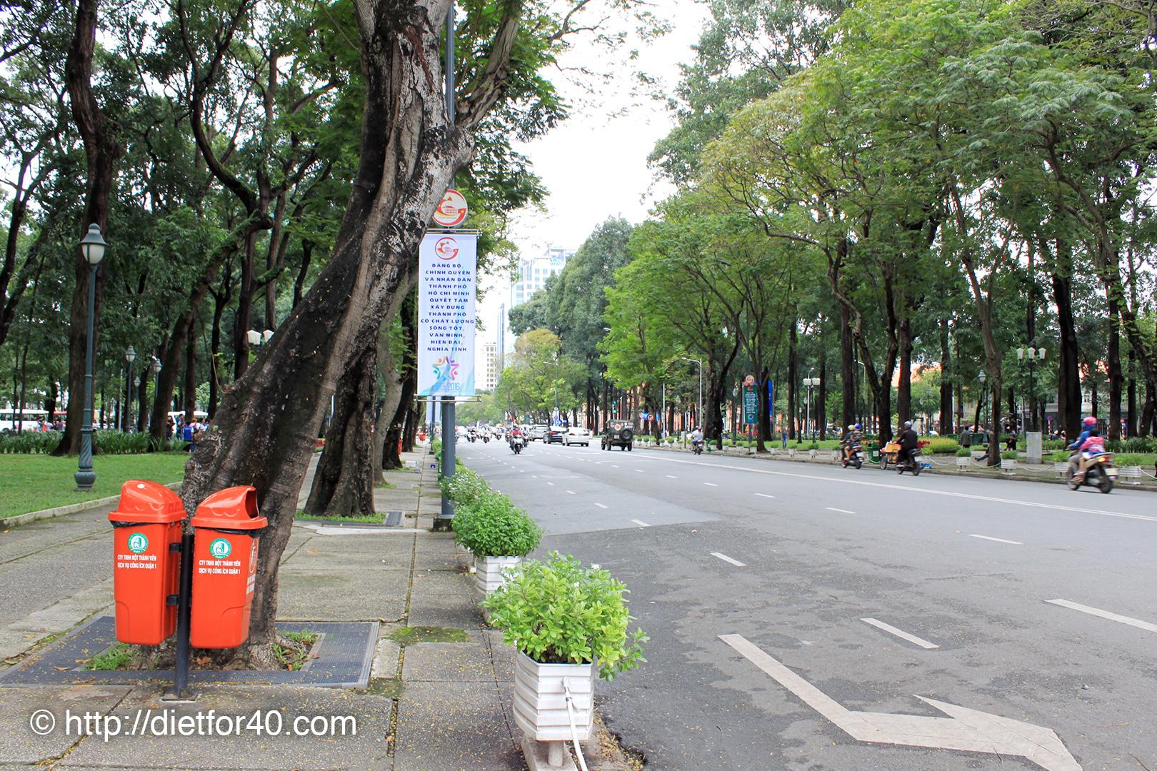4月30日公園(サイゴン大教会から統一会堂の間)