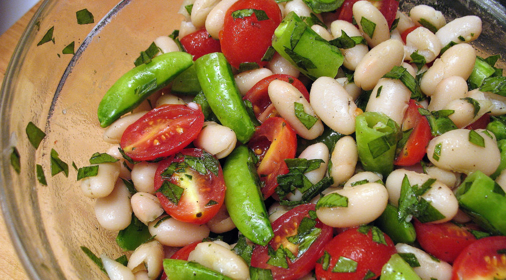 photo credit: Tiny Banquet Committee white bean and snap pea salad via photopin (license)